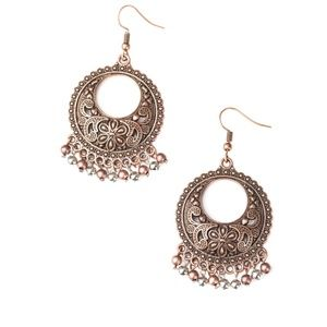 Paparazzi Thrifty Traveler Copper Earring